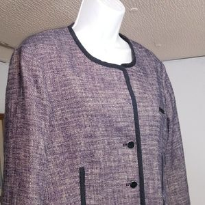 Nautica jewel neck suit jacket size 16